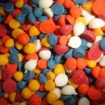 Chispas de chocolate multicolor