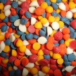 Chispas de chocolate multicolor